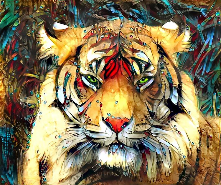 neural style ai tiger